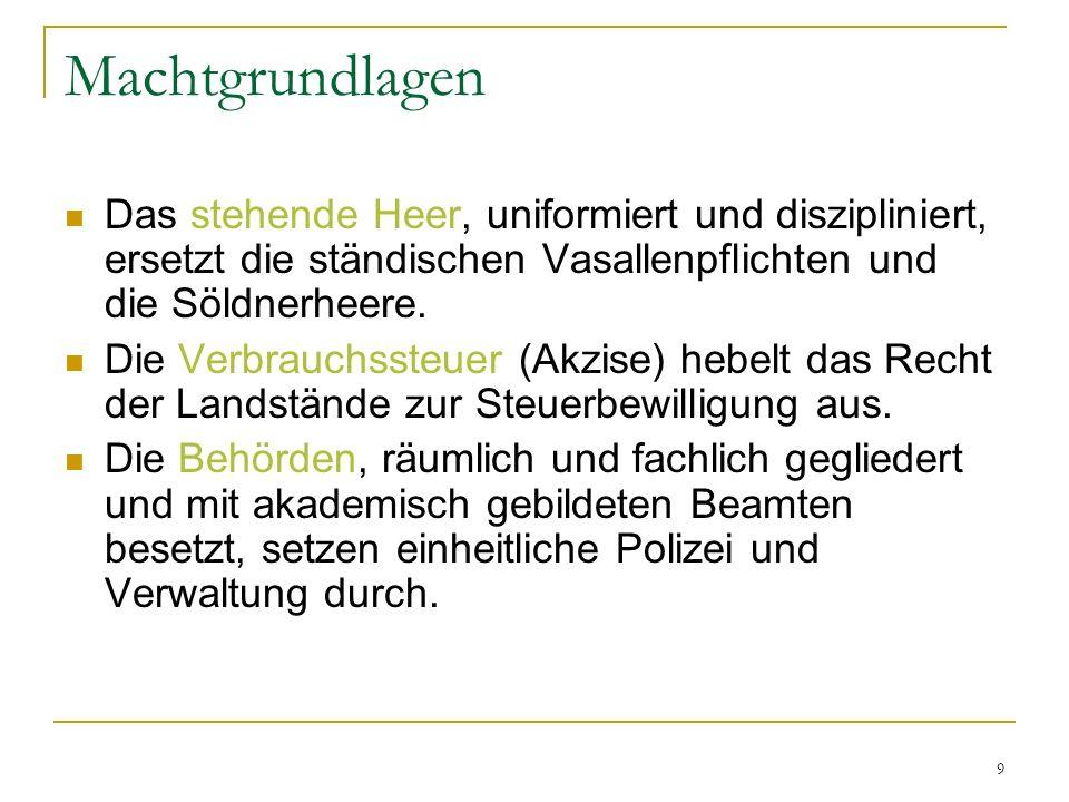 20 Institutionen: Reichsgerichte Das Reichskammergericht in Wetzlar und der Reichshofrat in Wien funktionierten paritätisch nach Konfessionen.