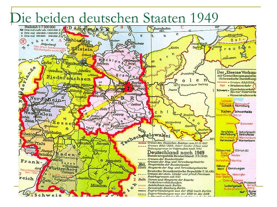 Die beiden deutschen Staaten 1949