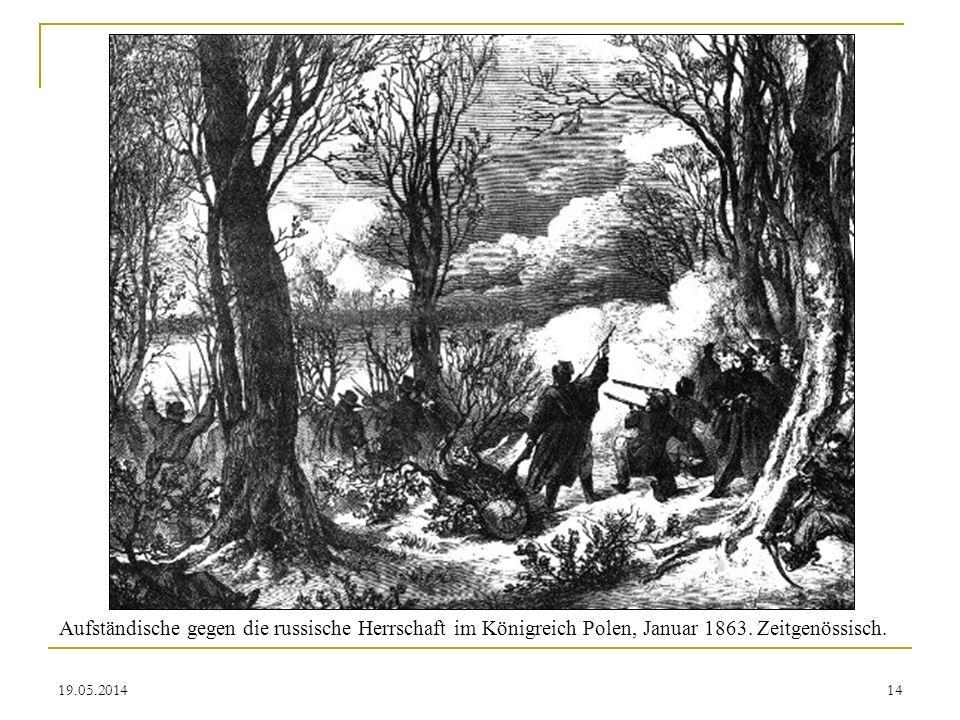 19.05.2014 Aufständische gegen die russische Herrschaft im Königreich Polen, Januar 1863. Zeitgenössisch. 14