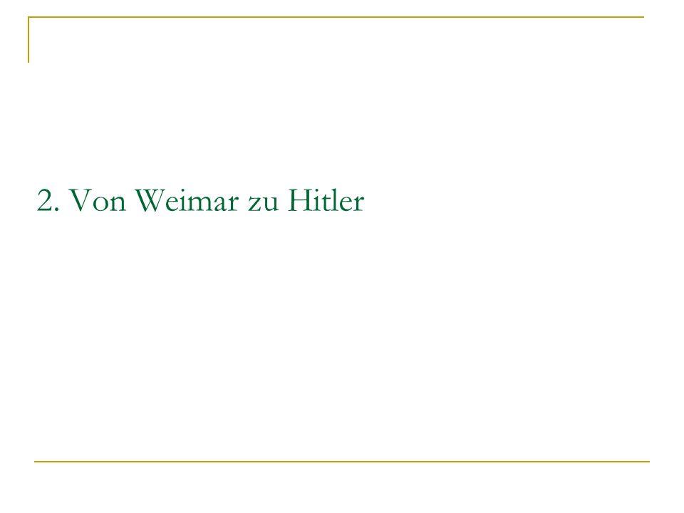 2. Von Weimar zu Hitler