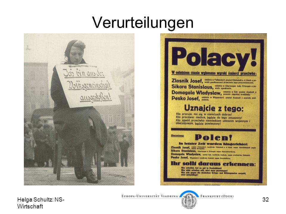 Helga Schultz: NS- Wirtschaft 32 Verurteilungen