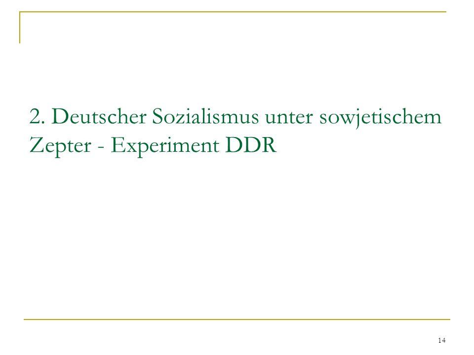 14 2. Deutscher Sozialismus unter sowjetischem Zepter - Experiment DDR