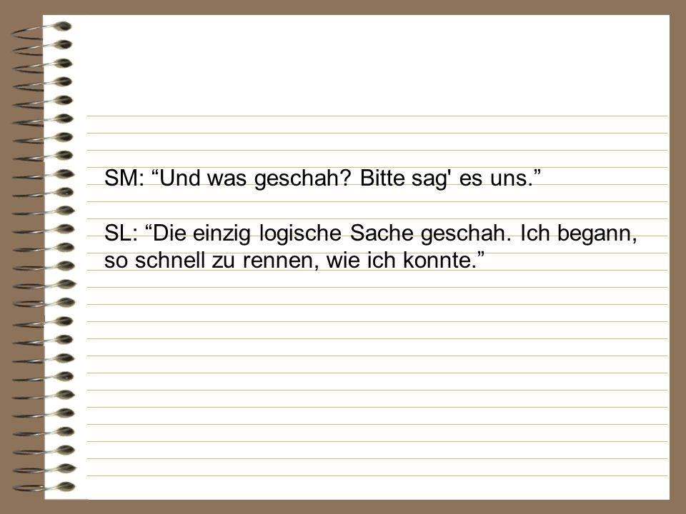 SM: Schwester Logik, Gott sei Dank bist du hier. Erzähl uns, was geschehen ist.