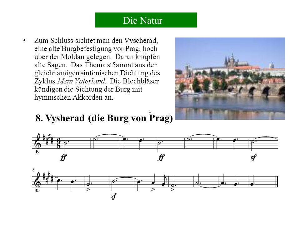 Das Flussthema erscheint wieder, dieses Mal in Dur, Tutti (von allen Instrumenten des Orchesters gespielt) und Fortissimo.