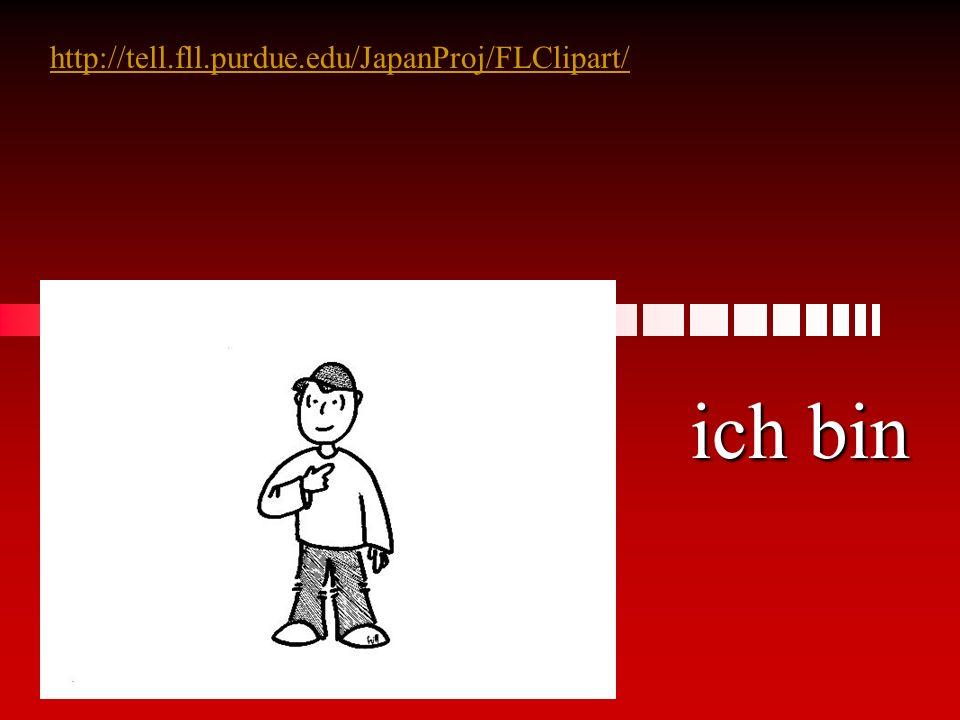 Hans________ ein Junge. binbistist