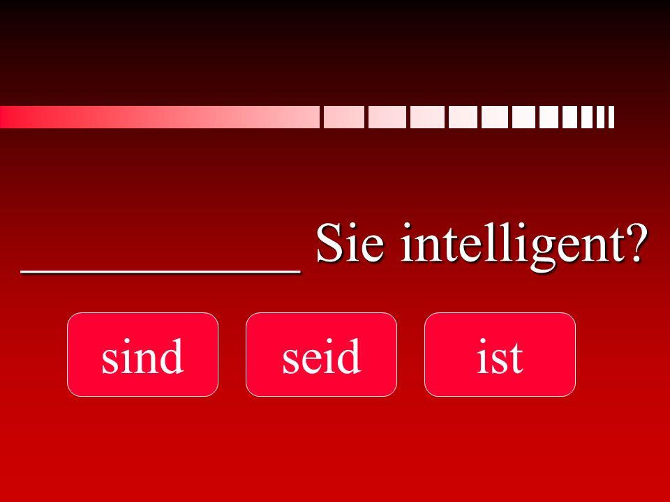 __________ Sie intelligent? sindseidist