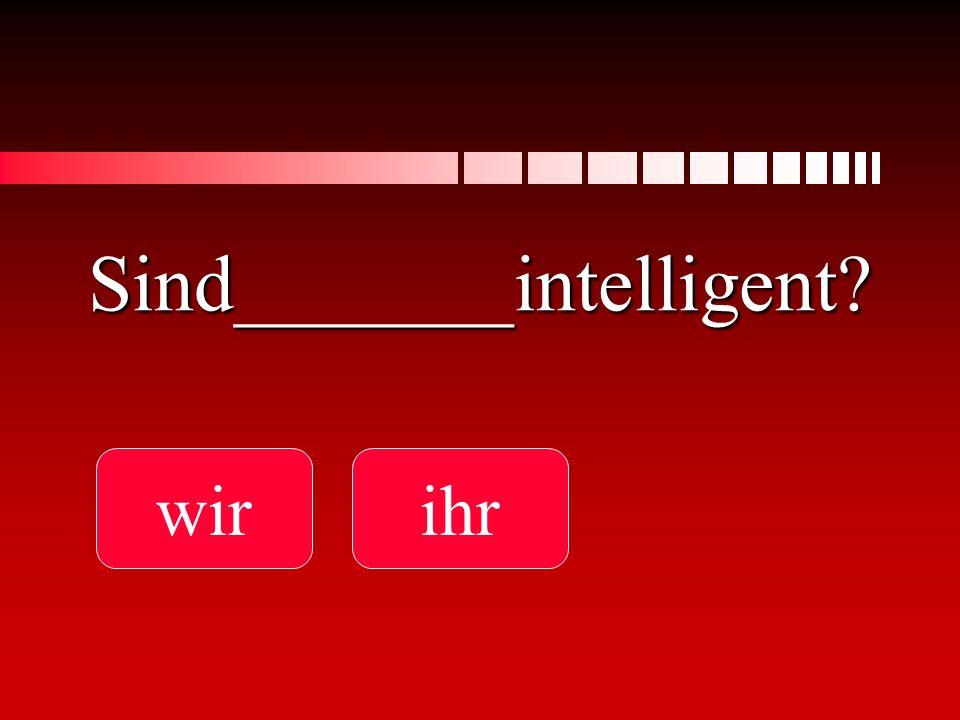 Sind_______intelligent? wirihr