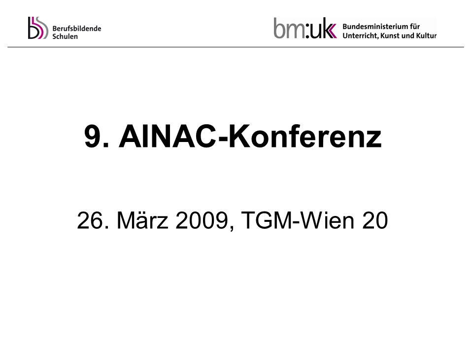 9. AINAC-Konferenz 26. März 2009, TGM-Wien 20