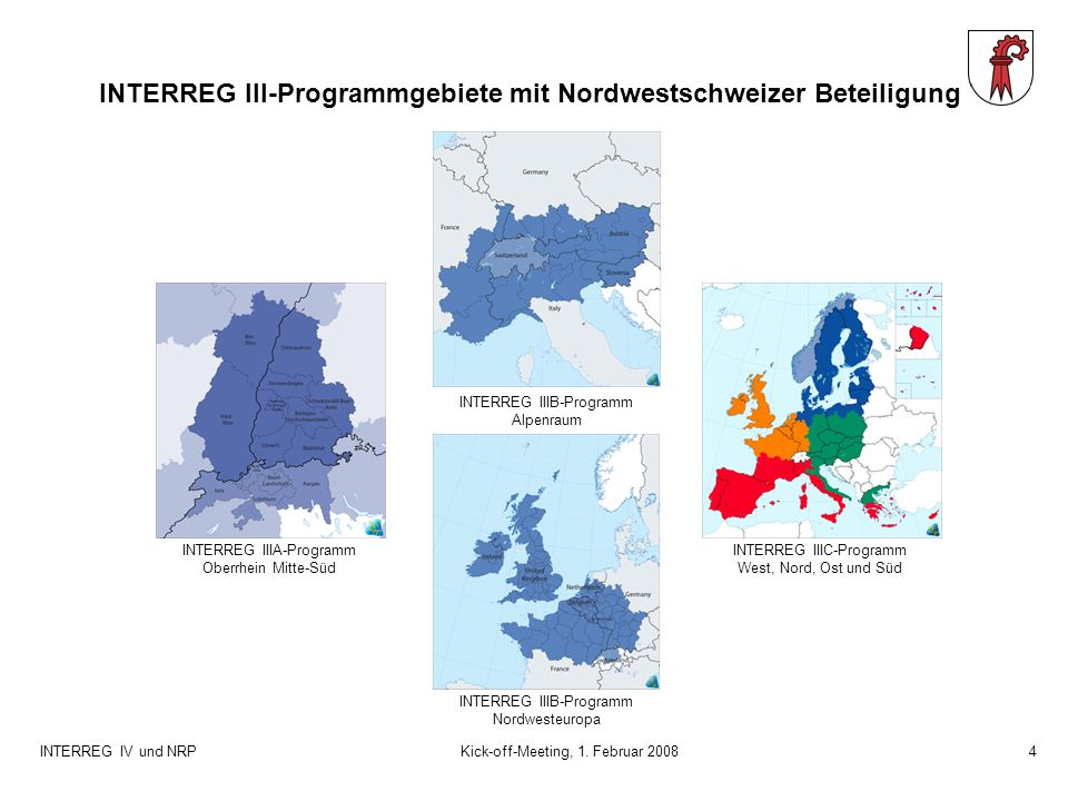 INTERREG IV und NRPKick-off-Meeting, 1.