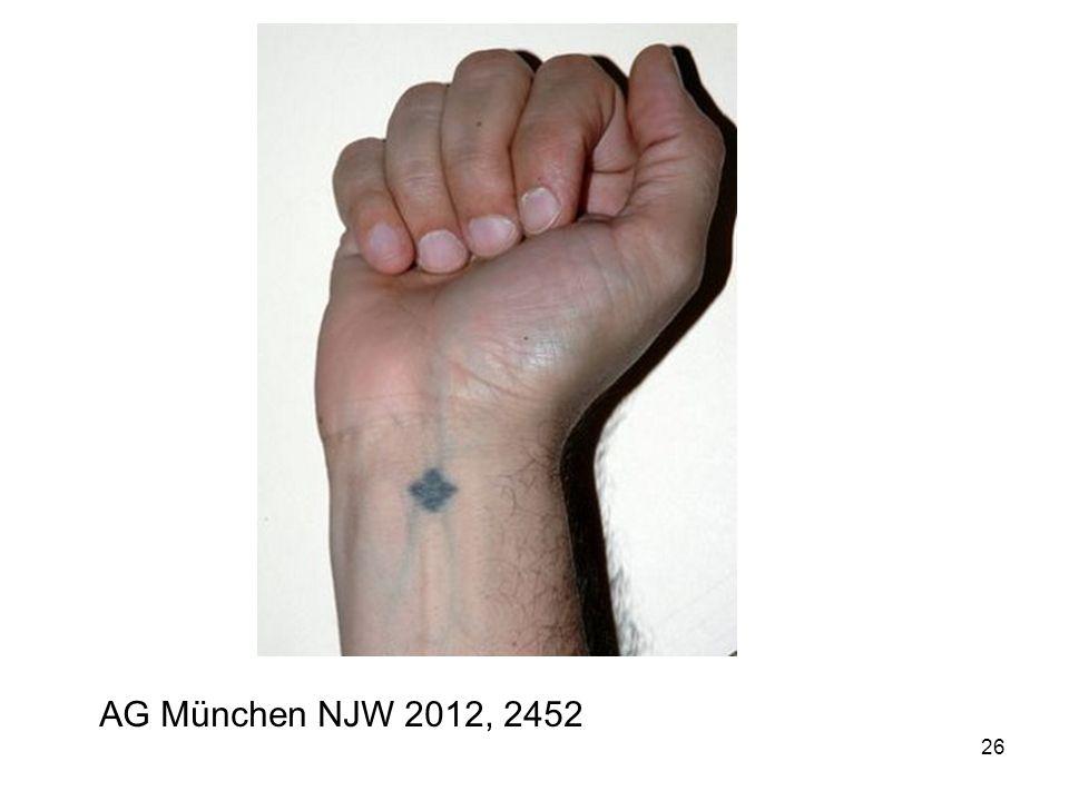 26 AG München NJW 2012, 2452