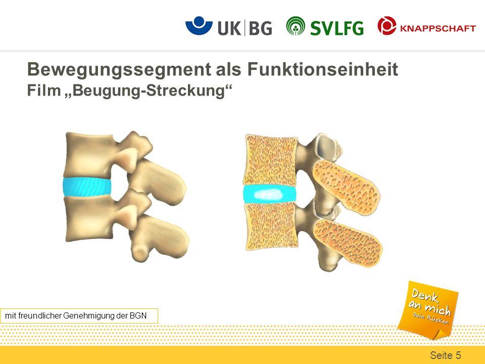 Bewegungssegment als Funktionseinheit Film Beugung-Streckung mit freundlicher Genehmigung der BGN Seite 5
