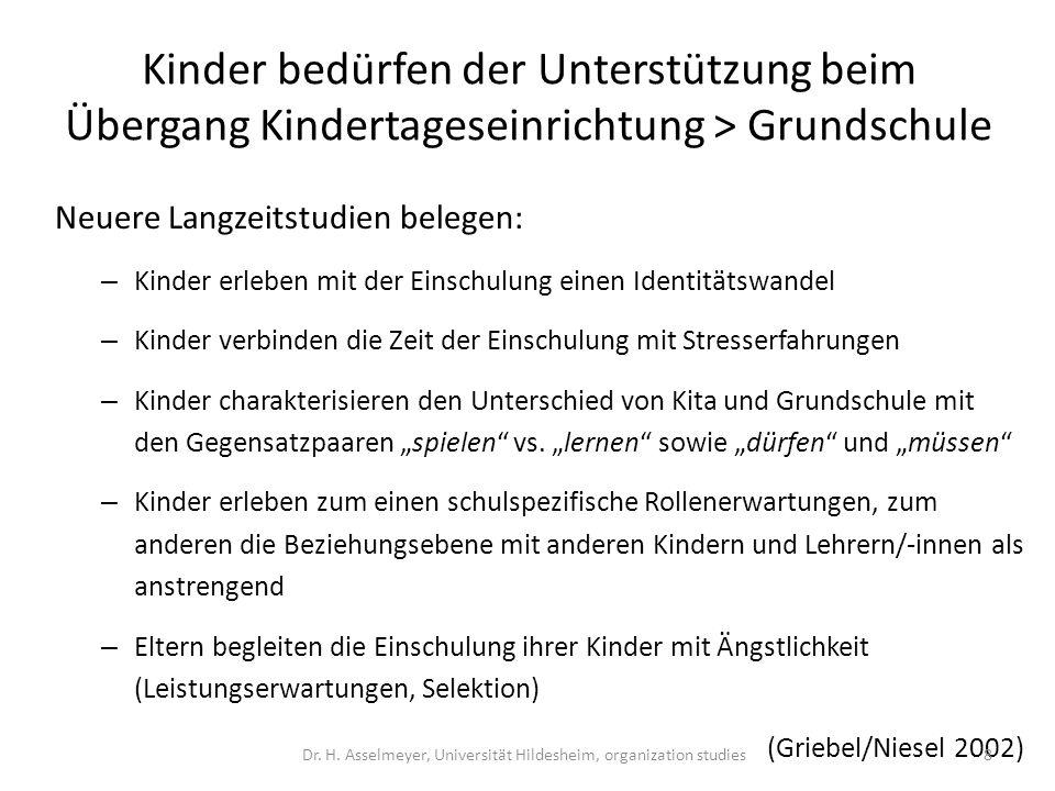 Nähe zur Debatte um exzellente Bildung in Kita und Grundschulen in Deutschland.