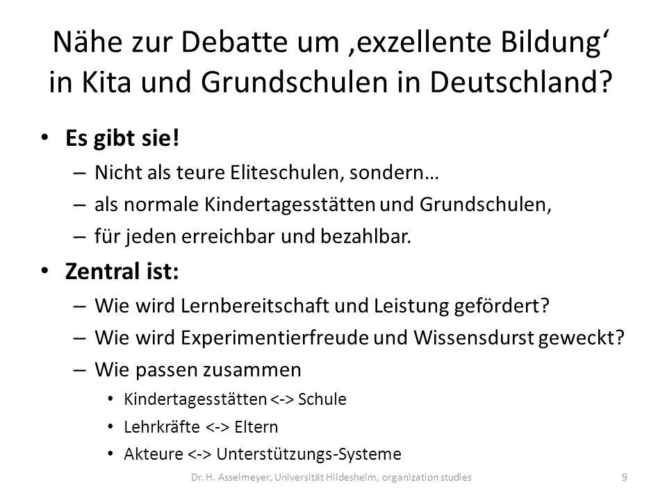 Nähe zur Debatte um exzellente Bildung in Kita und Grundschulen in Deutschland? Es gibt sie! – Nicht als teure Eliteschulen, sondern… – als normale Ki