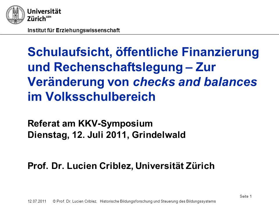Institut für Erziehungswissenschaft © Prof. Dr.