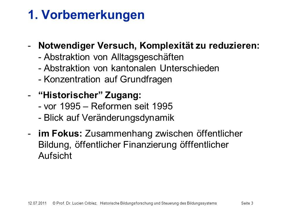 1. Vorbemerkungen -Notwendiger Versuch, Komplexität zu reduzieren: - Abstraktion von Alltagsgeschäften - Abstraktion von kantonalen Unterschieden - Ko