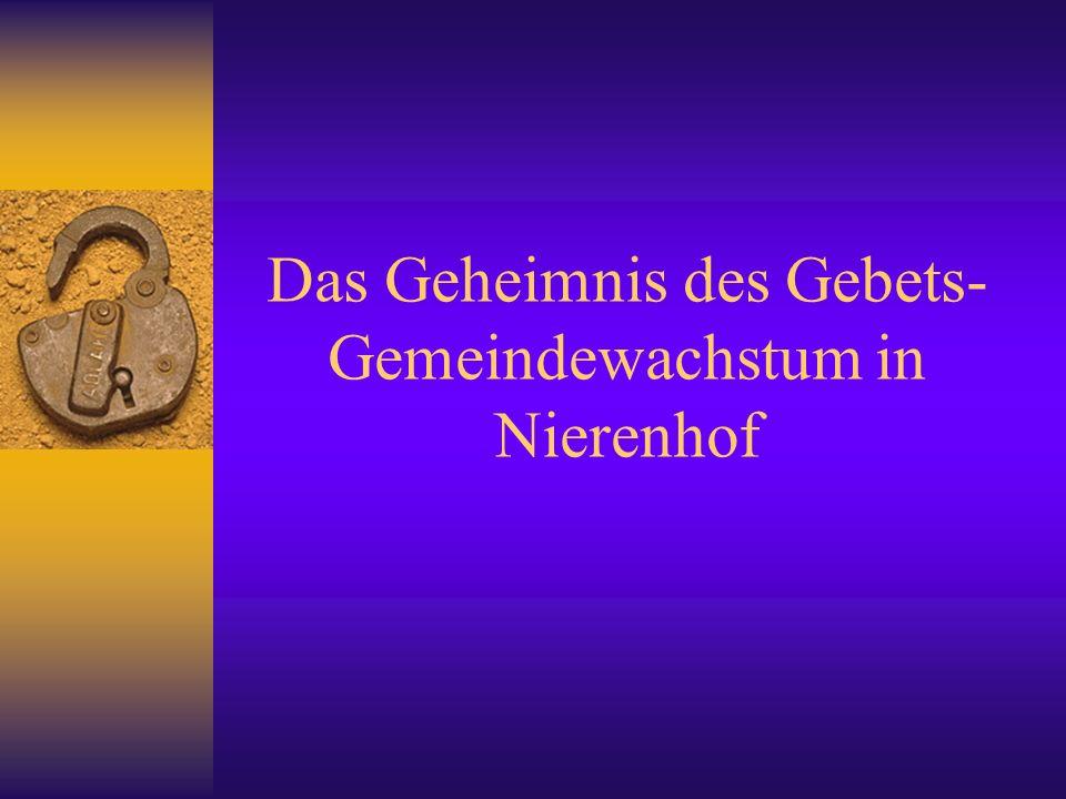 Geistliche Erneuerung der Gemeinden 2.