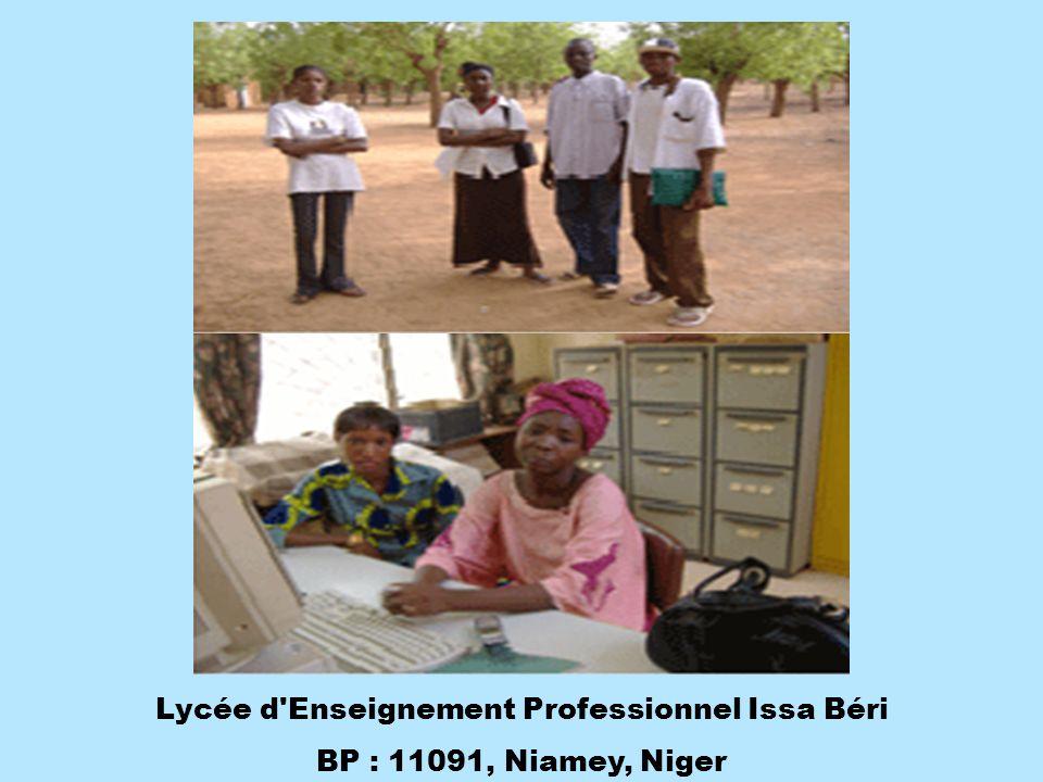 Lycée d Enseignement Professionnel Issa Béri BP : 11091, Niamey, Niger