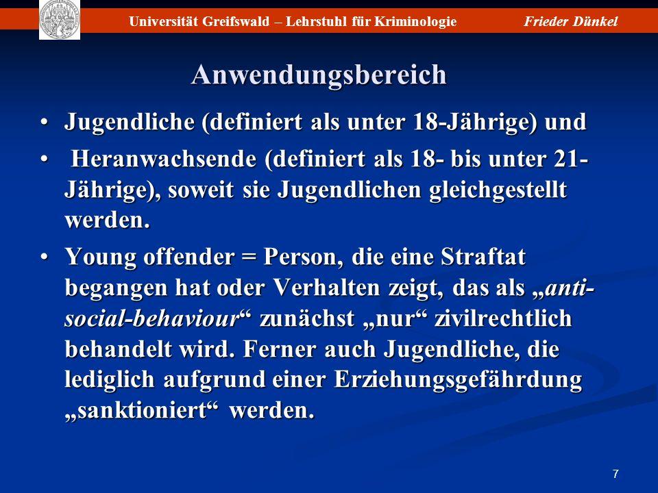 Universität Greifswald – Lehrstuhl für KriminologieFrieder Dünkel 18 Basic Principles (9)Basic Principles (9) 15.