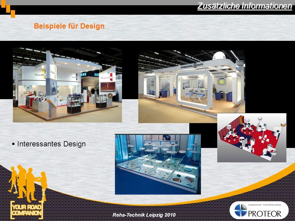 Reha-Technik Leipzig 2010 Beispiele für Design Zusätzliche Informationen Interessantes Design