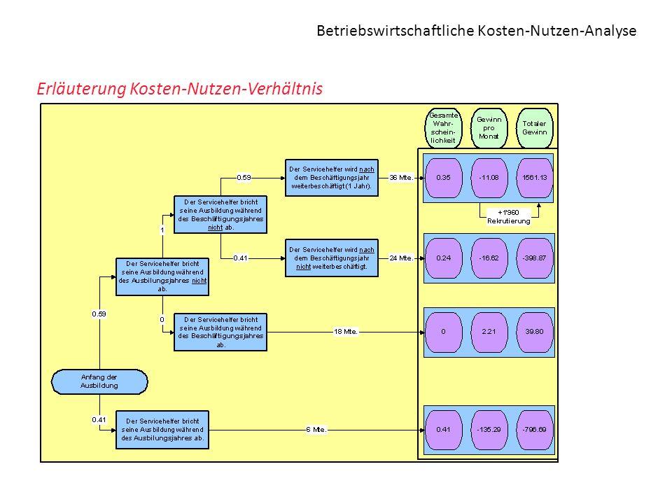 Betriebswirtschaftliche Kosten-Nutzen-Analyse Erläuterung Kosten-Nutzen-Verhältnis