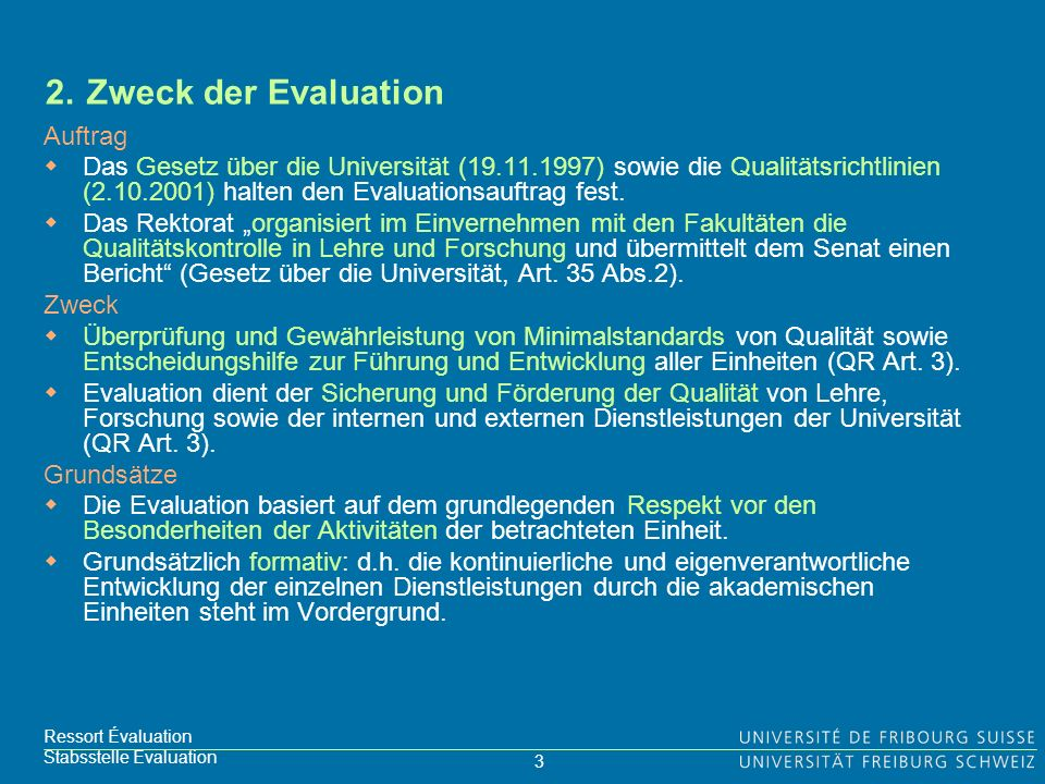 3 Ressort Évaluation Stabsstelle Evaluation 2.