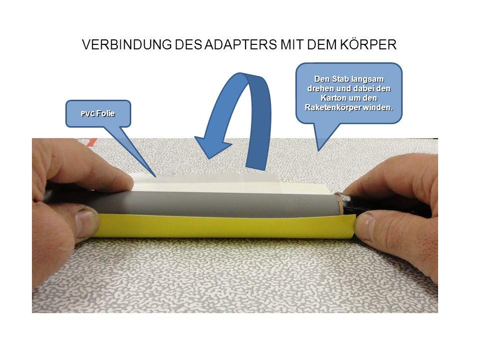 VERBINDUNG DES ADAPTERS MIT DEM KÖRPER PVC Folie Kleber