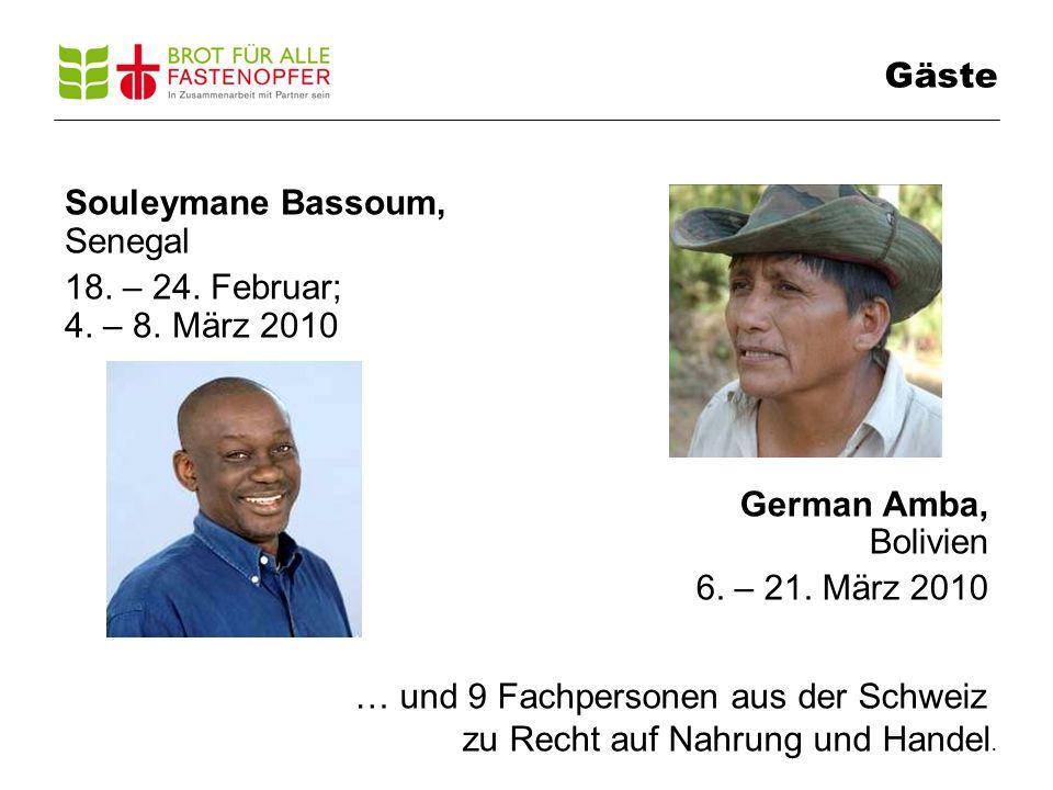 Gäste Souleymane Bassoum, Senegal 18. – 24. Februar; 4.