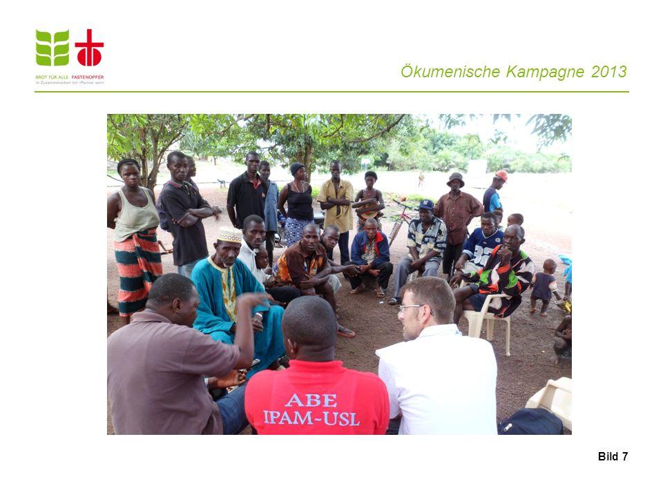 Ökumenische Kampagne 2013 10 Brot für alle und Fastenopfer engagieren sich gegen den Landraub.