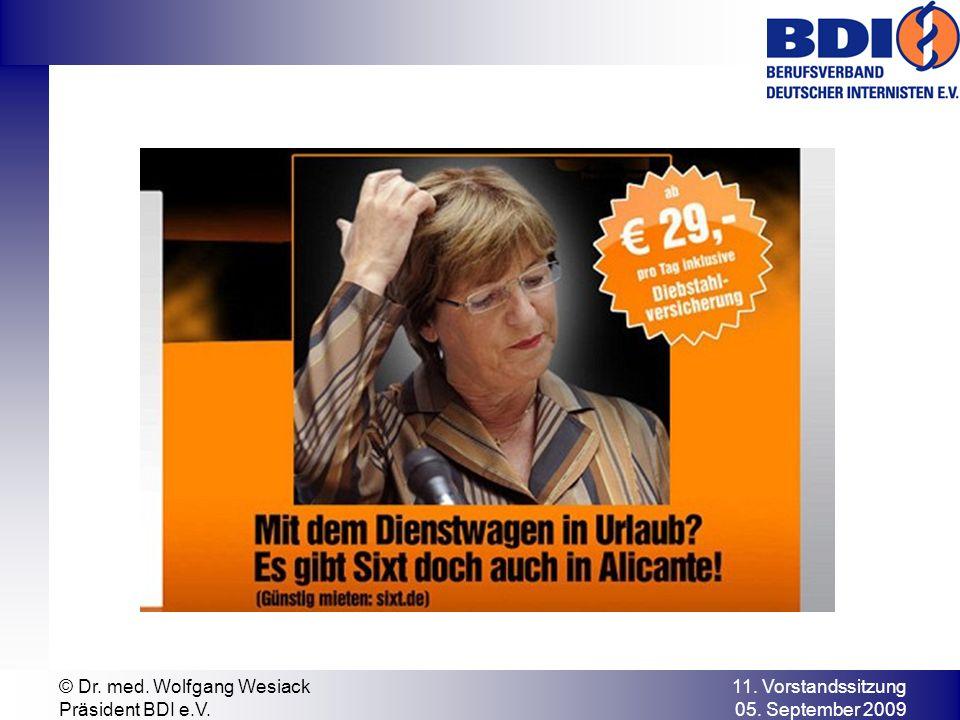 11. Vorstandssitzung 05. September 2009 © Dr. med. Wolfgang Wesiack Präsident BDI e.V.