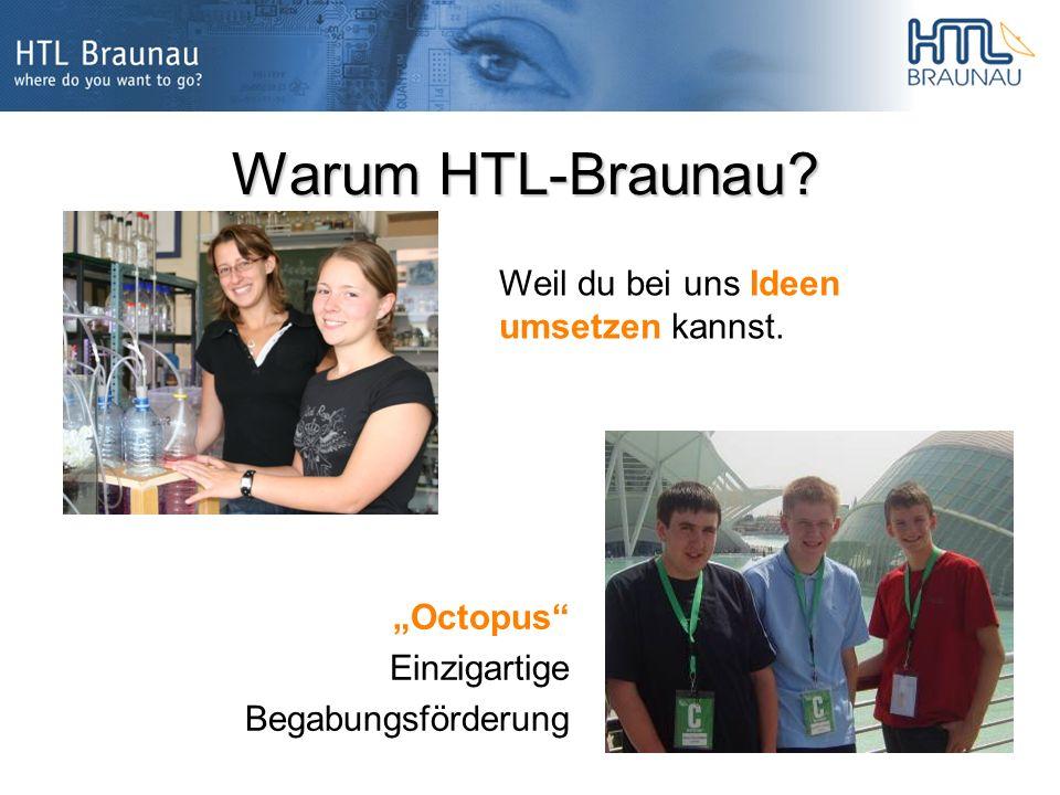 Warum HTL-Braunau Weil du bei uns Ideen umsetzen kannst. Octopus Einzigartige Begabungsförderung