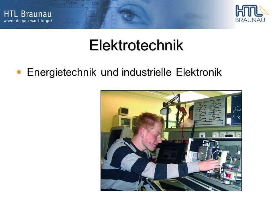 Elektrotechnik Energietechnik und industrielle Elektronik