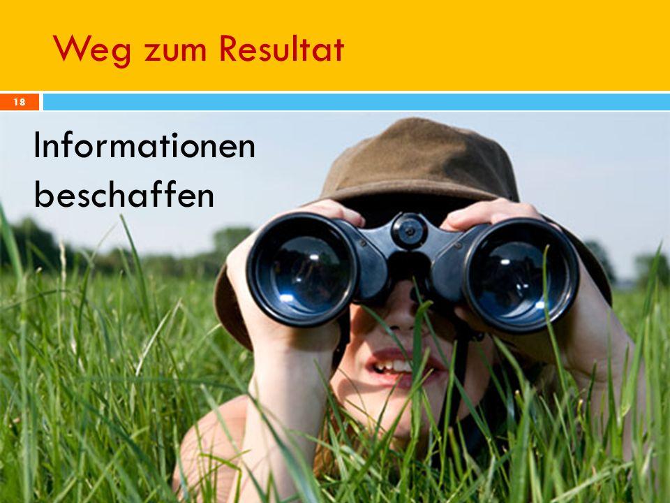 Weg zum Resultat 13.01.2010 RateMe - Pirmin Schürmann, Thomas Junghans - Hochschule für Technik Zürich 18 Informationen beschaffen