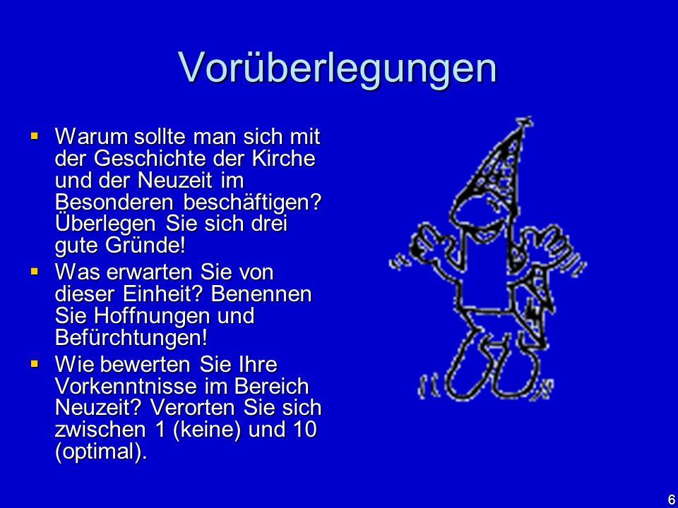 7 Epochenabgrenzung Reformation Wann beginnt die Epoche der Neuzeit.