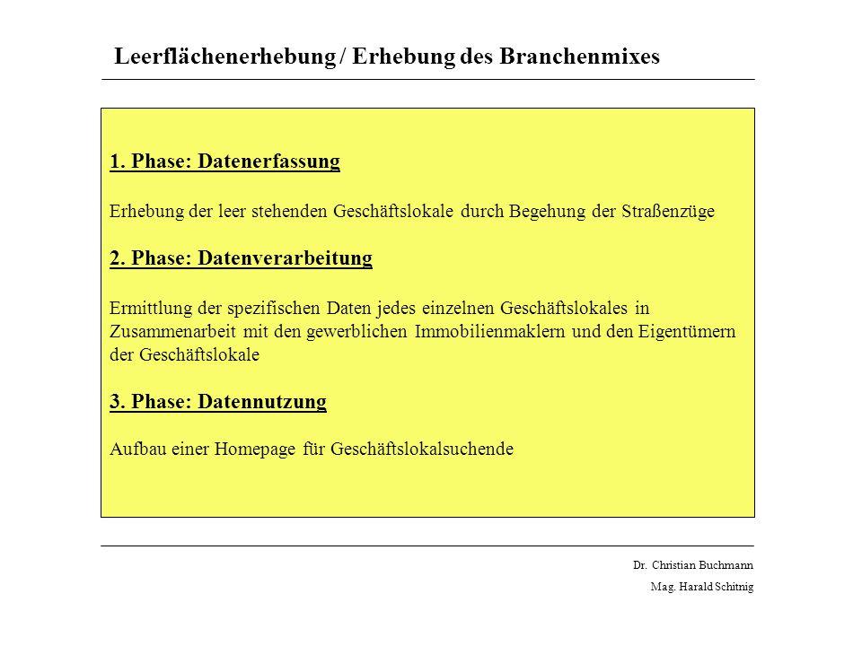 Leerflächenerhebung / Erhebung des Branchenmixes 1.