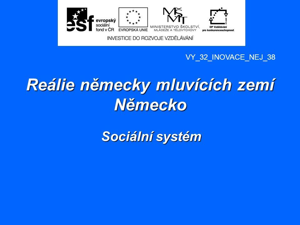 Reálie německy mluvících zemí Německo Sociální systém Autor: Mgr.