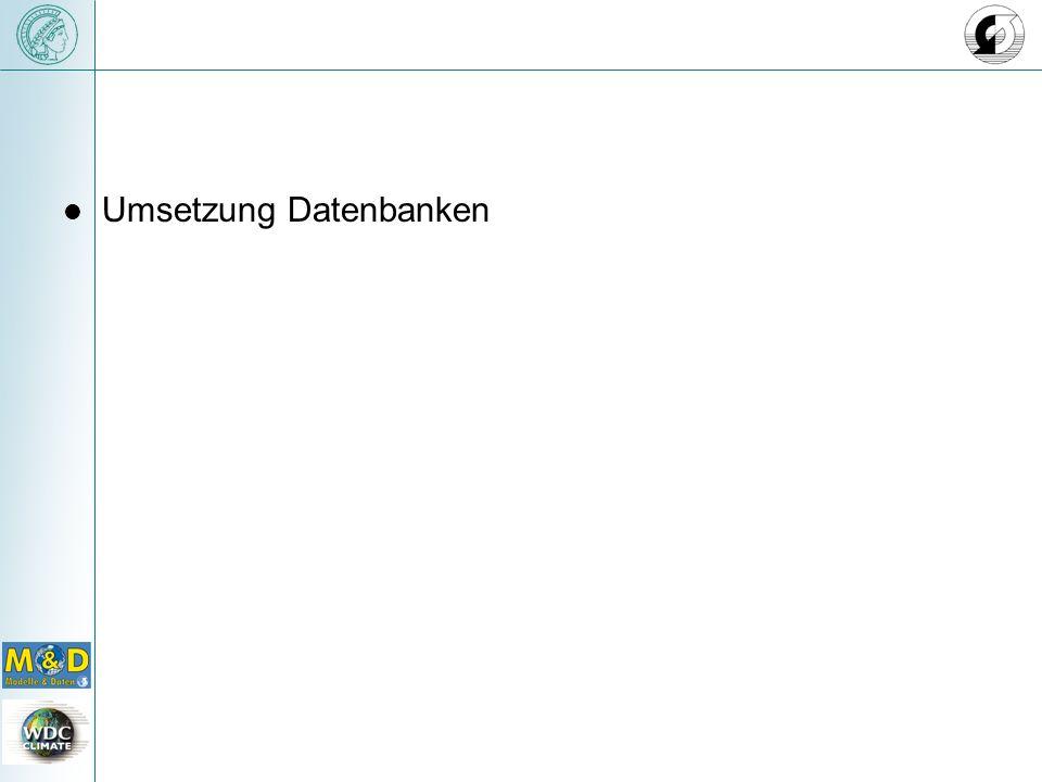 Umsetzung Datenbanken