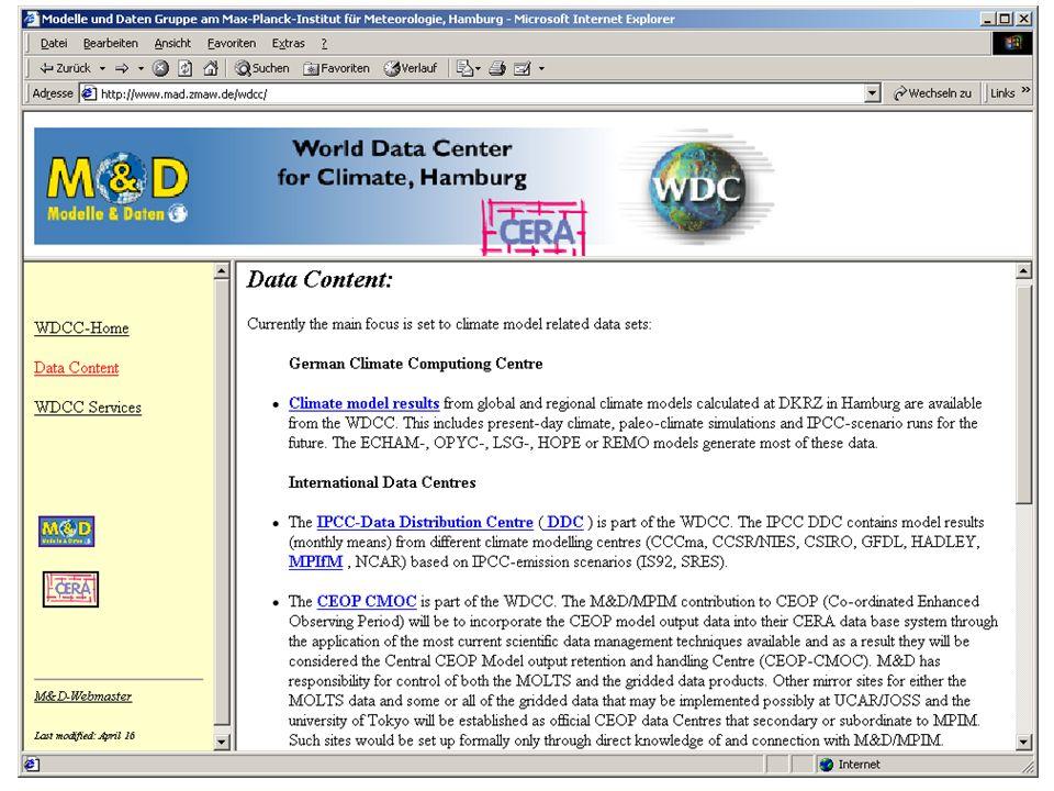 M. Lautenschlager (M&D/MPIM) / 24.04.2003 / 7 New: DLR EOWEB remote access