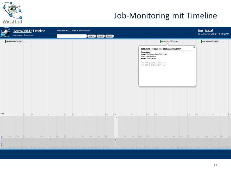 Job-Monitoring mit Timeline 11