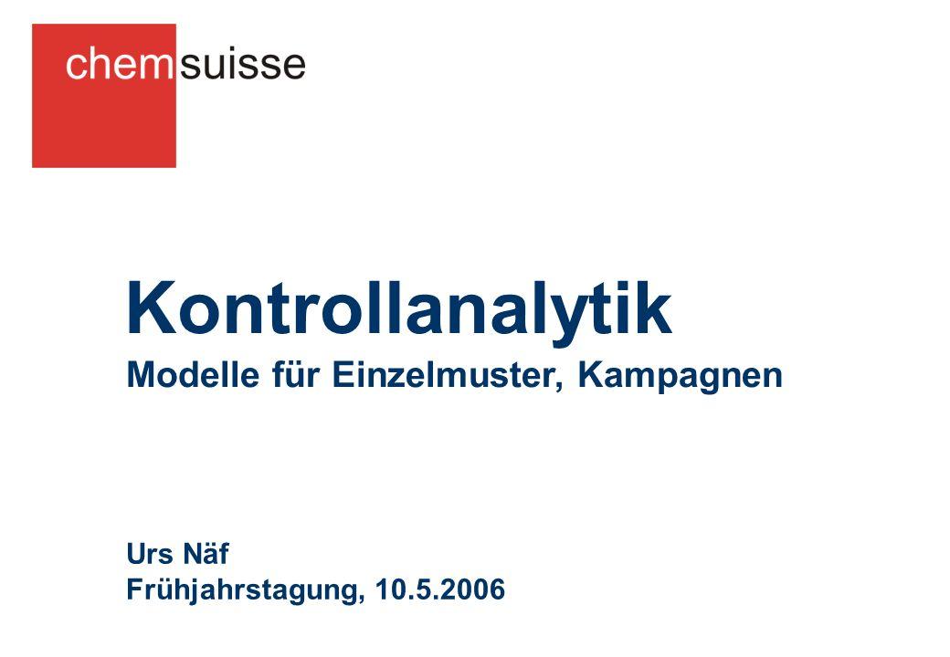 Modelle für Einzelmuster, Kampagnen Kontrollanalytik Urs Näf Frühjahrstagung, 10.5.2006