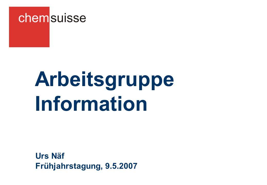 Arbeitsgruppe Information Urs Näf Frühjahrstagung, 9.5.2007