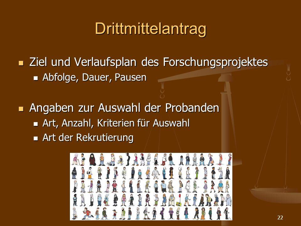 Methodenworkshop HU Berlin22 Drittmittelantrag Ziel und Verlaufsplan des Forschungsprojektes Ziel und Verlaufsplan des Forschungsprojektes Abfolge, Da