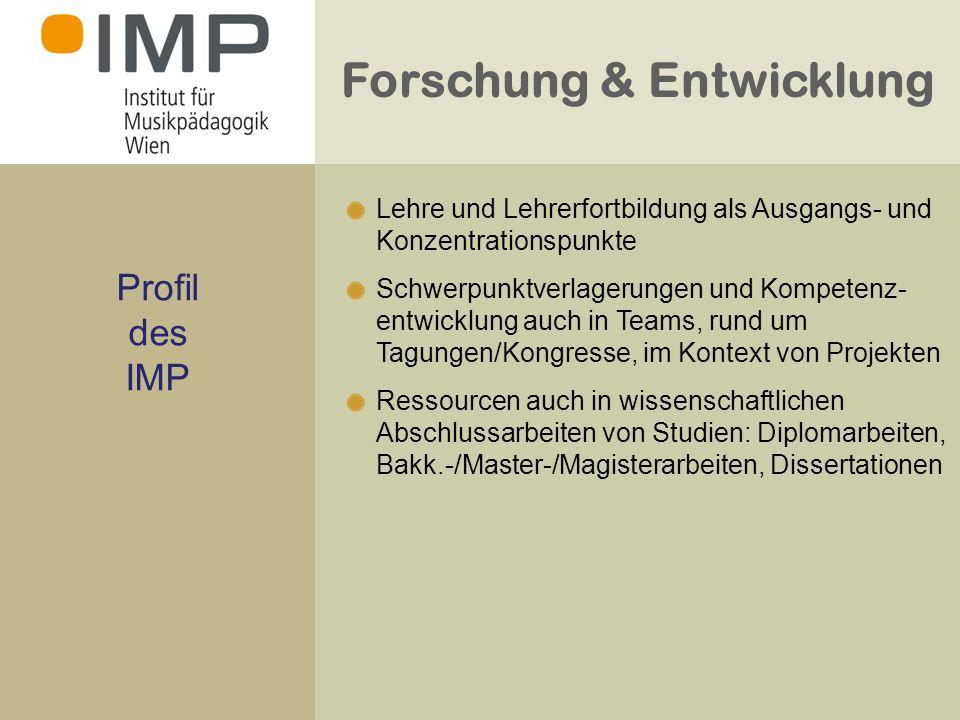 Forschung & Entwicklung Kontexte der Forschung und der Erarbeitung von Forschungs- ergebnissen Tagungen / Kongresse /Symposien Konzepte / Modelle Projekte / Netzwerke / Fachpolitik Berufsfeldforschung Individuelle Schwerpunkte
