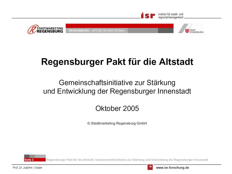 10 Prof. Dr. Joachim Vossen www.isr-forschung.de