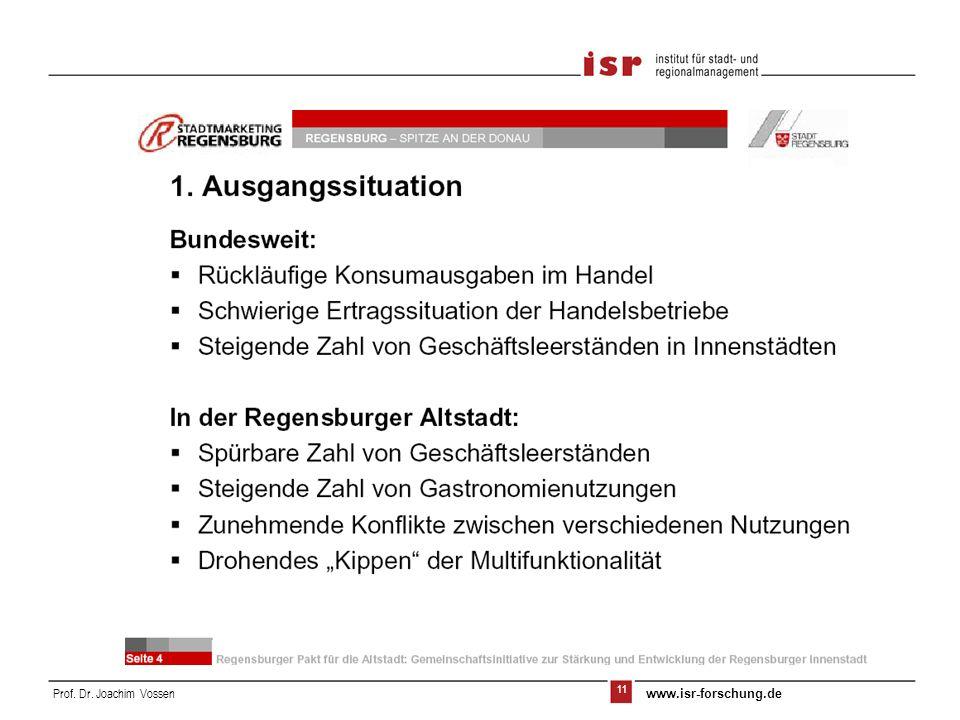 12 Prof. Dr. Joachim Vossen www.isr-forschung.de