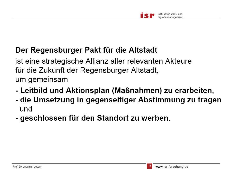 13 Prof. Dr. Joachim Vossen www.isr-forschung.de