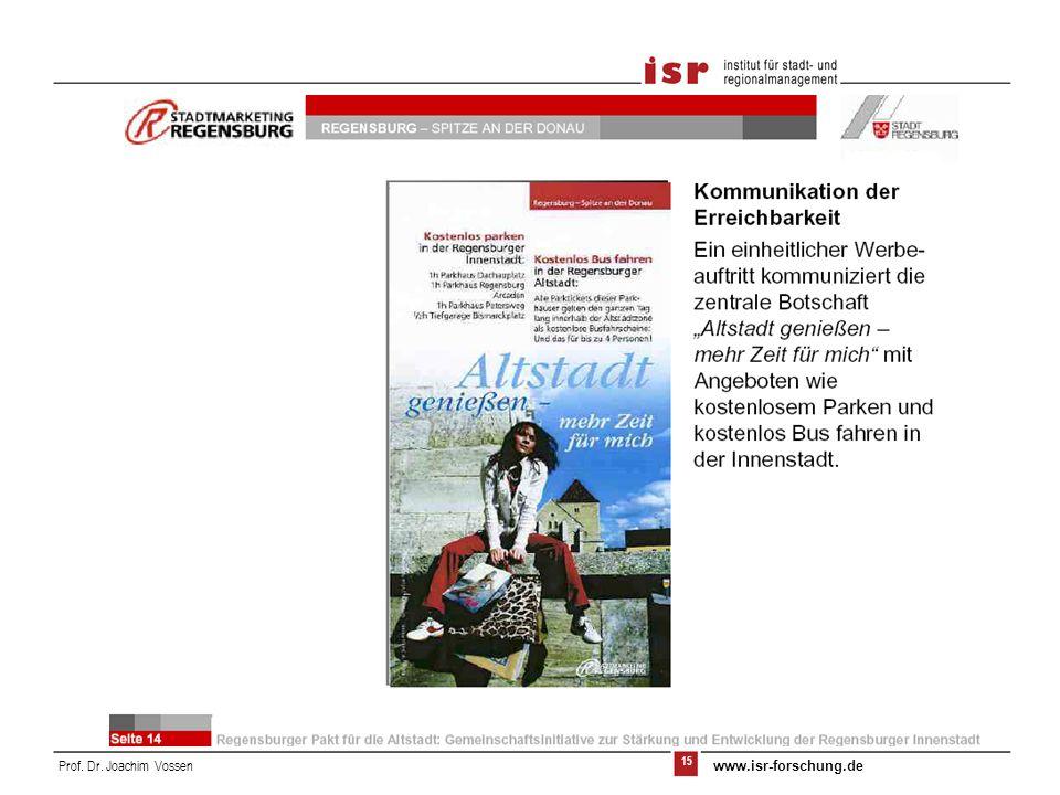 15 Prof. Dr. Joachim Vossen www.isr-forschung.de