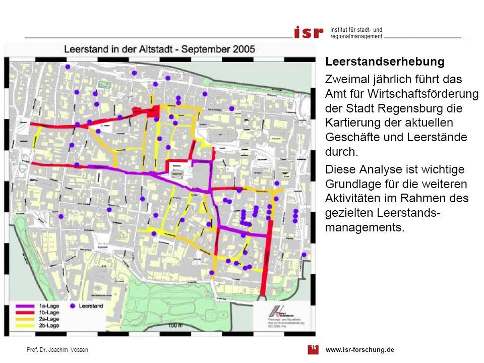 16 Prof. Dr. Joachim Vossen www.isr-forschung.de