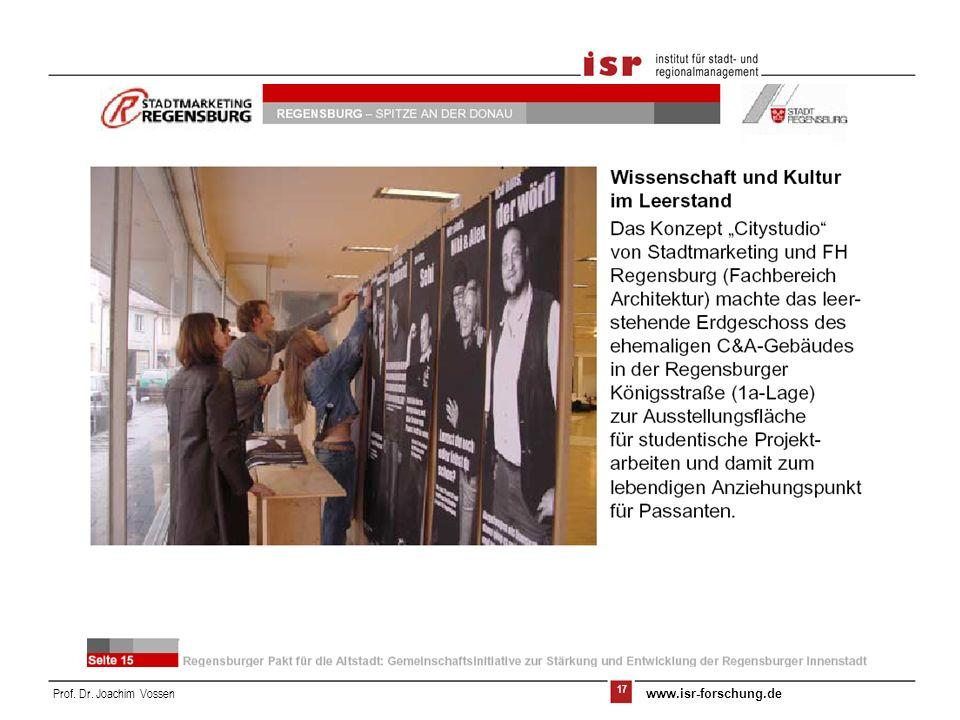 17 Prof. Dr. Joachim Vossen www.isr-forschung.de