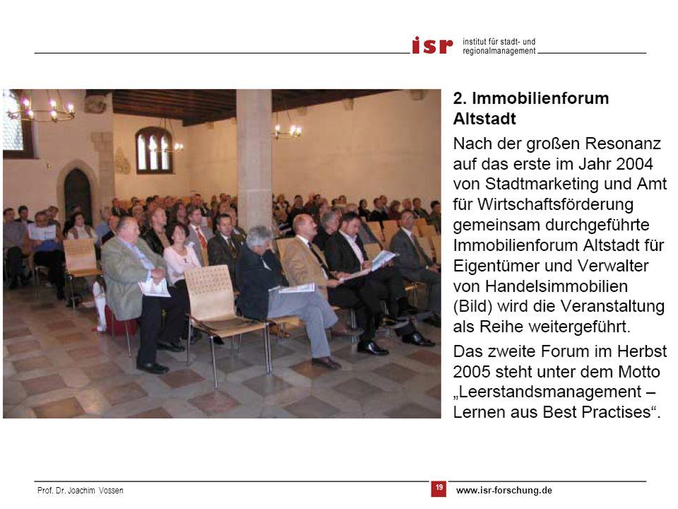 20 Prof. Dr. Joachim Vossen www.isr-forschung.de