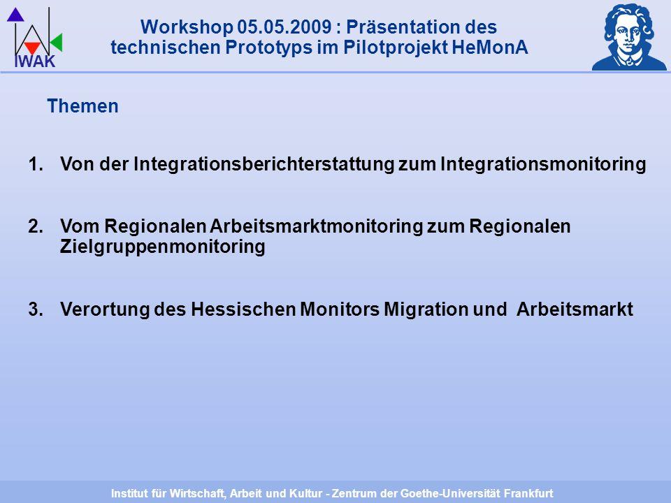 Institut für Wirtschaft, Arbeit und Kultur - Zentrum der Goethe-Universität Frankfurt IWAK Herzlichen Dank für Ihre Aufmerksamkeit.